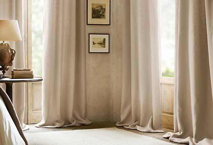 Шторы для гостиной своими руками: тонкости пошива в фото