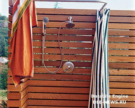 Как построить летний душ?