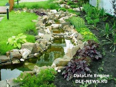 Как правильно декорировать искусственный ручей