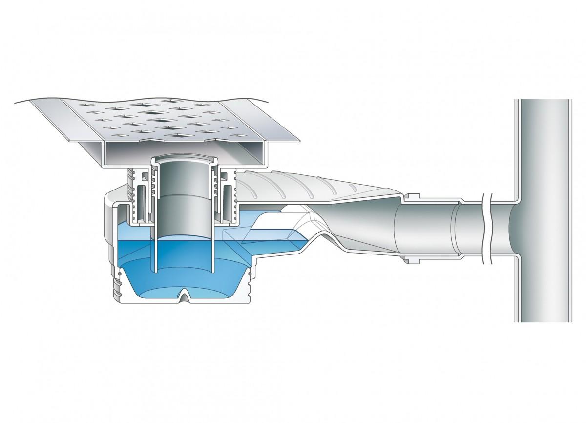 Гидрозатвор для душевой кабины