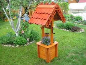 Как сделать колодец декоративный для сада своими руками