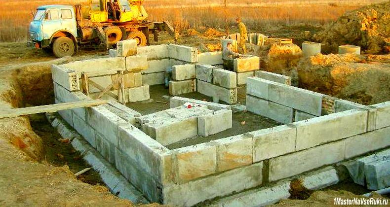 Фундамент из блоков своими руками фото
