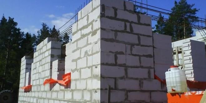 Пеноблок поэтапное строительство дома
