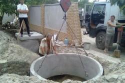 Как правильно установить бетонные кольца для канализации