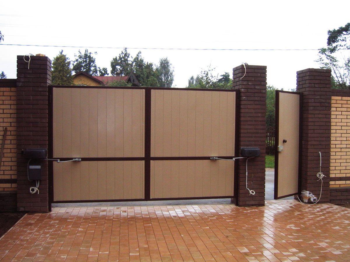 Распашные ворота с автоматикой 100мм ворота came bk 1800