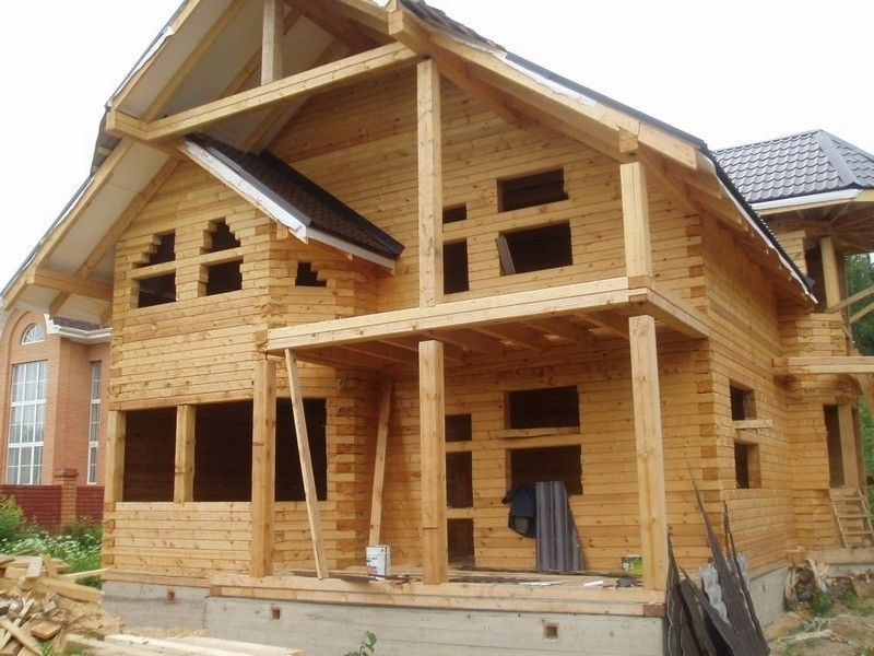 Строим из бруса деревянный дом