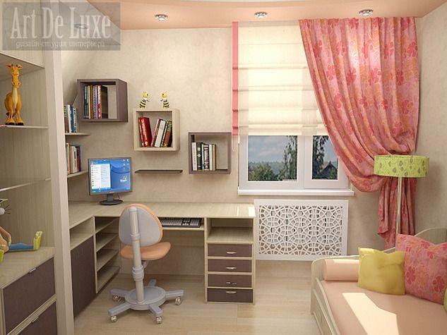 Фото дизайна детской комнаты для школьниц