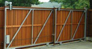 Устройство откатных ворот для дачи и гаража